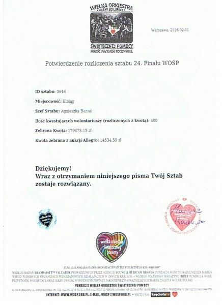 Mamy rekord zbiórki WOŚP w Elblągu – 193612,74 zł