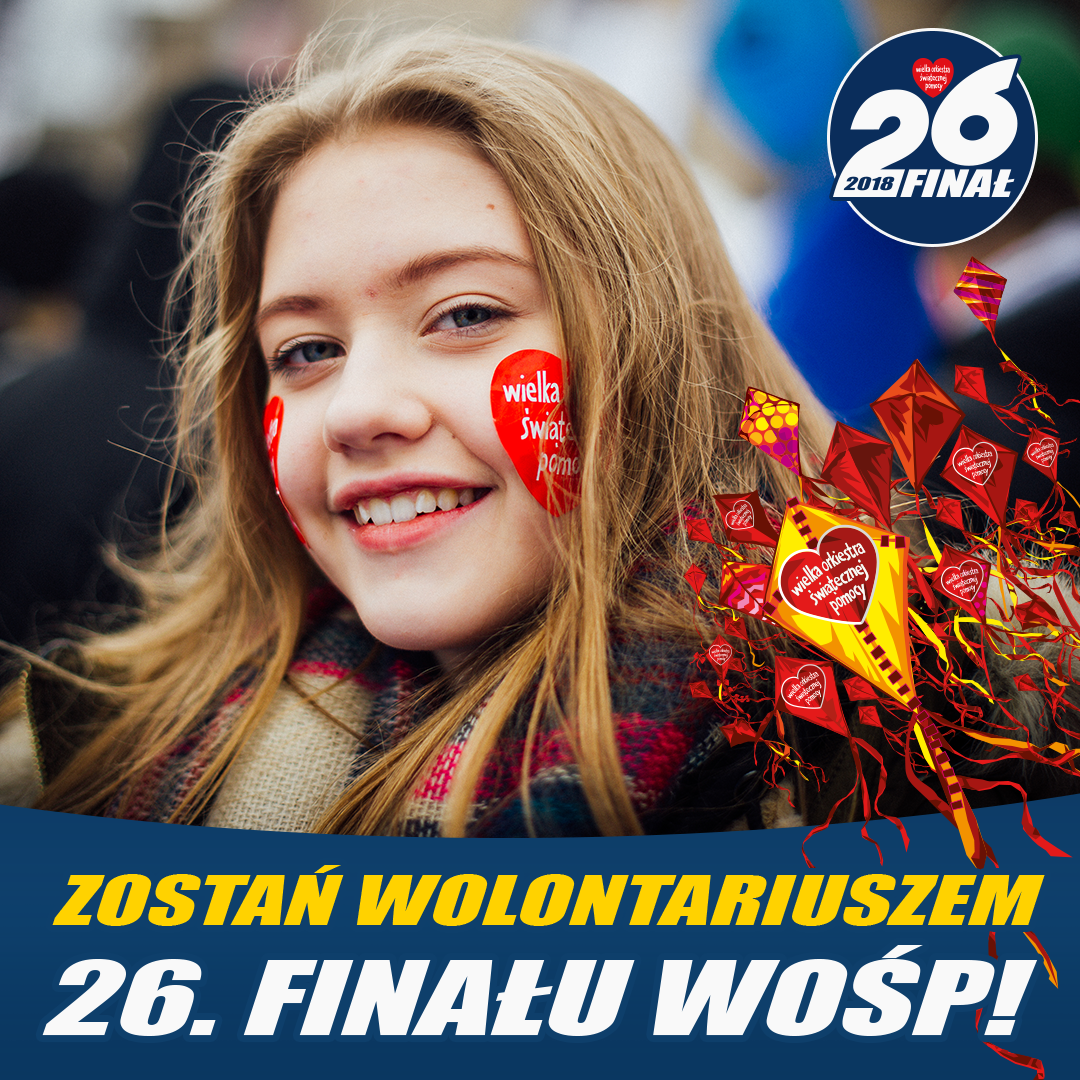 Zapraszamy Wolontariuszy do XXVI Finału WOŚP Elbląg!