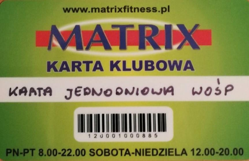 Jednorazowe wejście do klubu MATRIX FITNESS, do wykorzystani