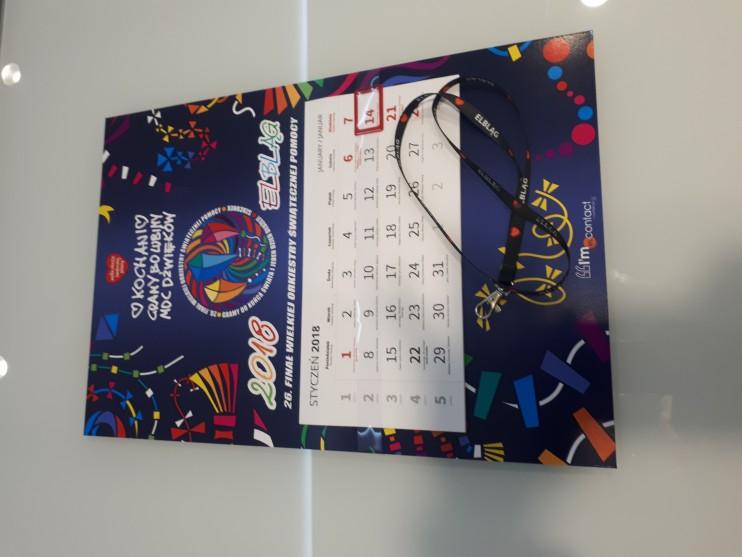Elbląski Kalendarz WOŚP + smycz