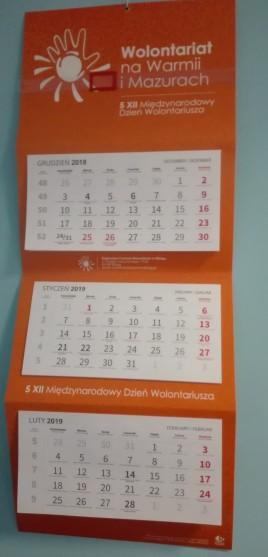 Kalendarz trójdzielny 2019 r.