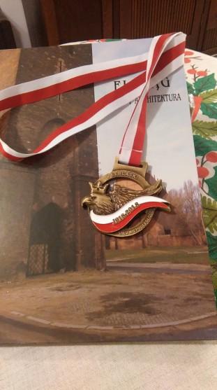 """Medalion """" V Elbląski Bieg Niepodległości 1918-2018&quo"""