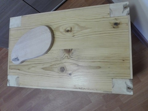 Stolik drewniany + deska do serwowania