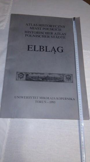 """Atlas Historyczny Miast Polskich-Elbląg"""