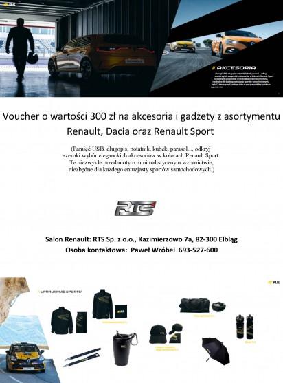 Voucher o wartości 300 zł na akcesoria i gadżety z asortymen