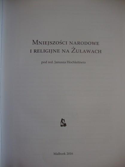 """Książka """"Mniejszości narodowe i religijne na Żuławach&q"""